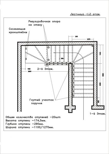 Схема г лестницы на второй этаж своими руками